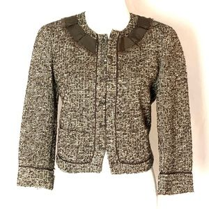Talbots Collection Petites Brown Tweed Jacket 10